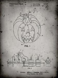 PP1003-Faded Grey Pumpkin Patent Poster by Cole Borders