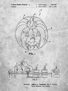 PP1003-Slate Pumpkin Patent Poster by Cole Borders