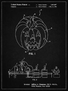 PP1003-Vintage Black Pumpkin Patent Poster by Cole Borders
