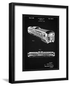 PP1006-Vintage Black Railway Passenger Car Patent Poster by Cole Borders