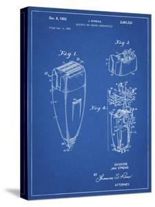 PP1011-Blueprint Remington Electric Shaver Patent Poster by Cole Borders