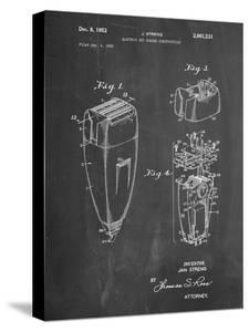 PP1011-Chalkboard Remington Electric Shaver Patent Poster by Cole Borders