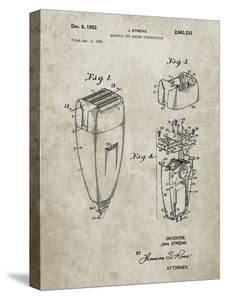 PP1011-Sandstone Remington Electric Shaver Patent Poster by Cole Borders