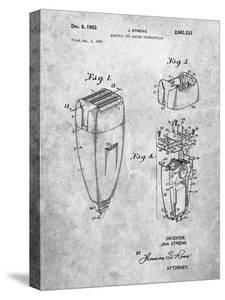 PP1011-Slate Remington Electric Shaver Patent Poster by Cole Borders