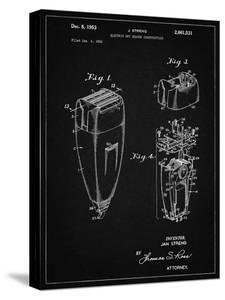 PP1011-Vintage Black Remington Electric Shaver Patent Poster by Cole Borders