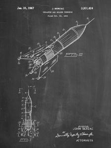 PP1016-Chalkboard Rocket Ship Concept 1963 Patent Poster by Cole Borders