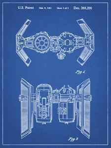 PP102-Blueprint Star Wars TIE Bomber Patent Poster by Cole Borders