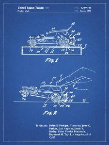 PP1020-Blueprint Rubber Band Toy Car Patent Poster by Cole Borders