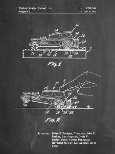 PP1020-Chalkboard Rubber Band Toy Car Patent Poster by Cole Borders