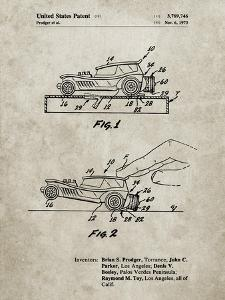 PP1020-Sandstone Rubber Band Toy Car Patent Poster by Cole Borders