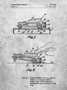 PP1020-Slate Rubber Band Toy Car Patent Poster by Cole Borders