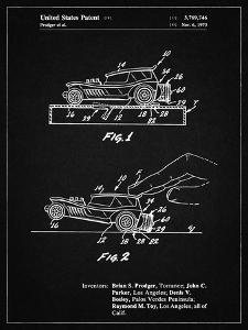 PP1020-Vintage Black Rubber Band Toy Car Patent Poster by Cole Borders
