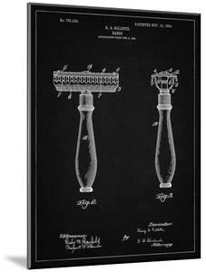 PP1026-Vintage Black Safety Razor Patent Poster by Cole Borders