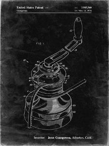 PP1027-Black Grunge Sailboat Winch Patent Poster by Cole Borders