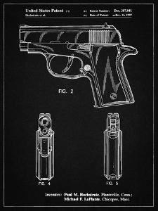 PP1034-Vintage Black Sig Sauer P220 Pistol Patent Poster by Cole Borders