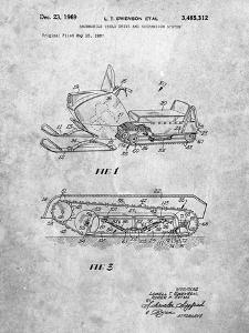 PP1046-Slate Snow Mobile Patent Poster by Cole Borders