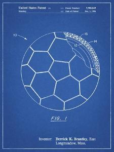 PP1047-Blueprint Soccer Ball Layers Patent Poster by Cole Borders