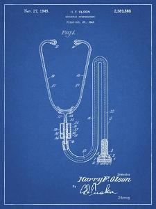 PP1066-Blueprint Stethoscope Patent Poster by Cole Borders