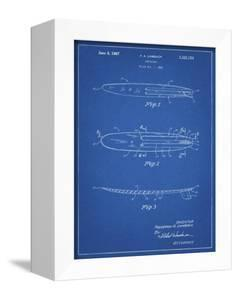 PP1073-Blueprint Surfboard 1965 Patent Poster by Cole Borders