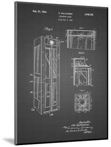 PP1088-Black Grid Telephone Booth Patent Poster by Cole Borders