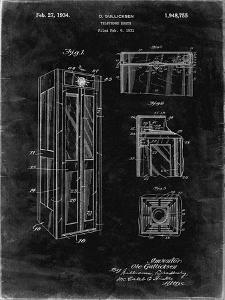 PP1088-Black Grunge Telephone Booth Patent Poster by Cole Borders