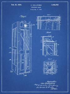 PP1088-Blueprint Telephone Booth Patent Poster by Cole Borders