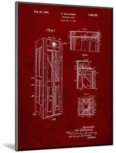 PP1088-Burgundy Telephone Booth Patent Poster by Cole Borders