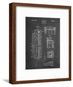 PP1088-Chalkboard Telephone Booth Patent Poster by Cole Borders