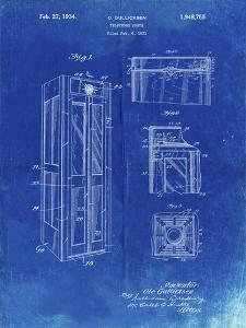 PP1088-Faded Blueprint Telephone Booth Patent Poster by Cole Borders