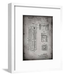 PP1088-Faded Grey Telephone Booth Patent Poster by Cole Borders