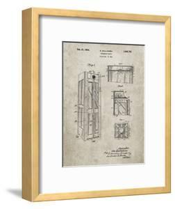 PP1088-Sandstone Telephone Booth Patent Poster by Cole Borders