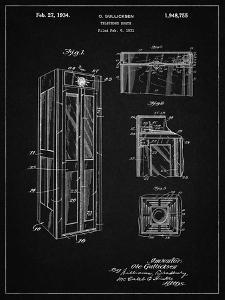 PP1088-Vintage Black Telephone Booth Patent Poster by Cole Borders