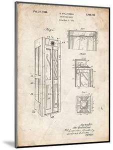PP1088-Vintage Parchment Telephone Booth Patent Poster by Cole Borders