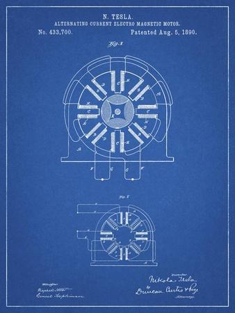 PP1092-Blueprint Tesla Coil Patent Poster
