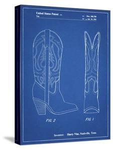 PP1098-Blueprint Texas Boot Company 1983 Cowboy Boots Patent Poster by Cole Borders