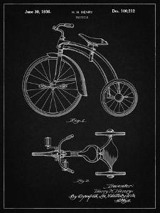 PP1114-Vintage Black Tricycle Patent Poster by Cole Borders
