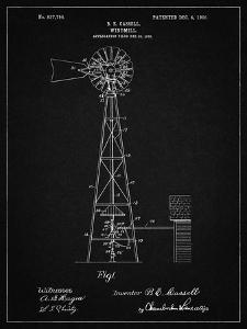 PP1137-Vintage Black Windmill 1906 Patent Poster by Cole Borders