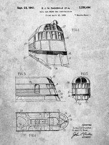PP1141-Slate Zephyr Train Patent Poster by Cole Borders