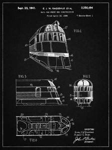 PP1141-Vintage Black Zephyr Train Patent Poster by Cole Borders