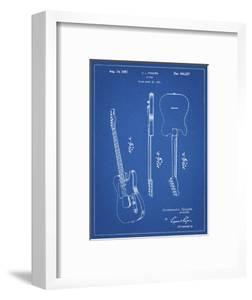 PP121- Blueprint Fender Broadcaster Electric Guitar Patent Poster by Cole Borders