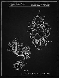 PP123- Vintage Black Mr. Potato Head Patent Poster by Cole Borders