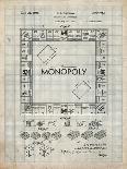 PP131- Antique Grid Parchment Monopoly Patent Poster-Cole Borders-Giclee Print