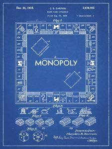 PP131- Blueprint Monopoly Patent Poster by Cole Borders