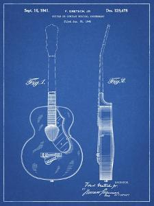PP138- Blueprint Gretsch 6022 Rancher Guitar Patent Poster by Cole Borders