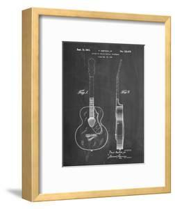 PP138- Chalkboard Gretsch 6022 Rancher Guitar Patent Poster by Cole Borders