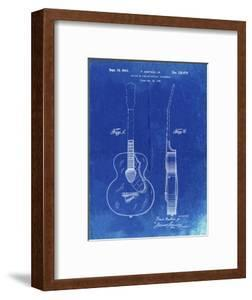 PP138- Faded Blueprint Gretsch 6022 Rancher Guitar Patent Poster by Cole Borders