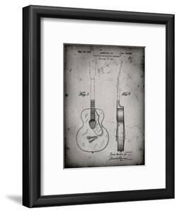 PP138- Faded Grey Gretsch 6022 Rancher Guitar Patent Poster by Cole Borders