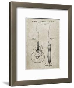 PP138- Sandstone Gretsch 6022 Rancher Guitar Patent Poster by Cole Borders