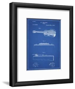 PP139- Blueprint Stratton & Son Acoustic Guitar Patent Poster by Cole Borders