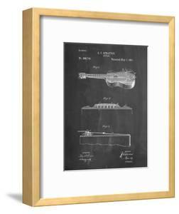PP139- Chalkboard Stratton & Son Acoustic Guitar Patent Poster by Cole Borders
